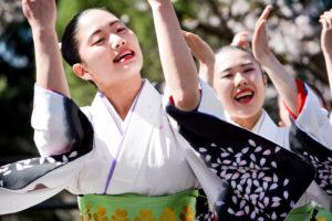 Women happy and celebrating at Subaru Cherry Blossom Festival